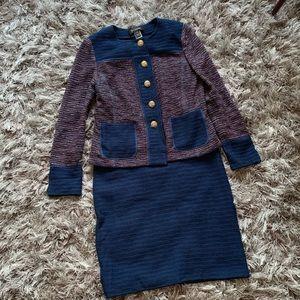 St john knitted dress jacket suit size 6 B1